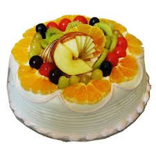 Fresh fruit cake eggless 1 kg
