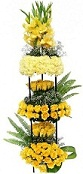 150 yellow roses carnations glads 4 feet arrangement
