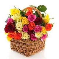24 Assorted Roses Basket