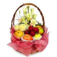 15 Flowers and 4 kg fruits basket