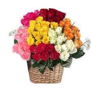 45 mix roses basket