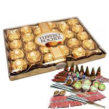 24 ferrero rocher box with crackers