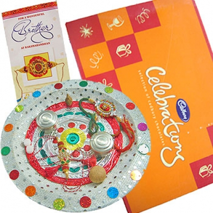 Pooja Thali chocolate box and card